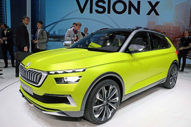 Keväällä Geneven autonäyttelyssä ensiesitelty Skoda Vision X nähdään nyt Helsingissä. Vision x X piirtää esiin mm. uuden tulevan pikku-SUVin ilmettä.