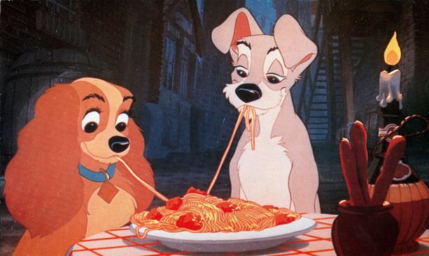 Kaunotar ja Kulkuri -animaatio sai ensi-iltansa vuonna 1955.