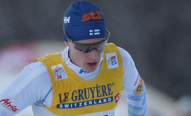 Matti Heikkinen ei onnistunut nousemaan Tour de Skin palkintopallille viimeisellä mäkiosuudella.