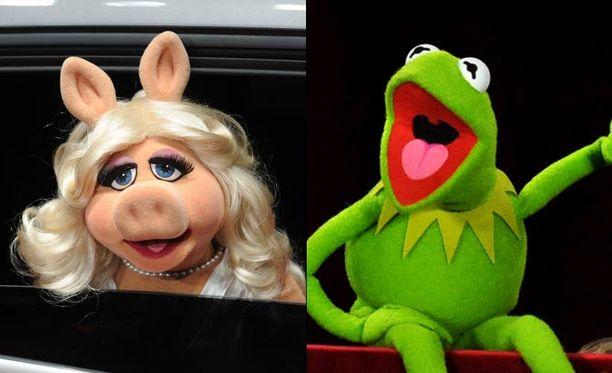 Muppet Shown Kermit ja Miss Piggy pääsevät Oscar-gaalaan.