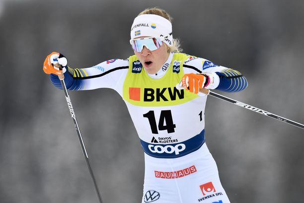 Jonna Sundling hiihti voittoon Planicassa.