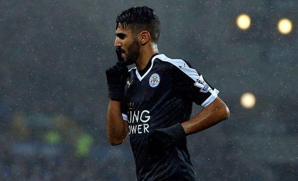 Riyad Mahrez on ollut suoraan mukana 20 Leicesterin maalissa.