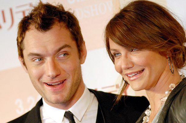 Jude Law ja Cameron Diaz näyttäytyivät yhdessä Holiday-elokuvan tiedotustilaisuudessa.