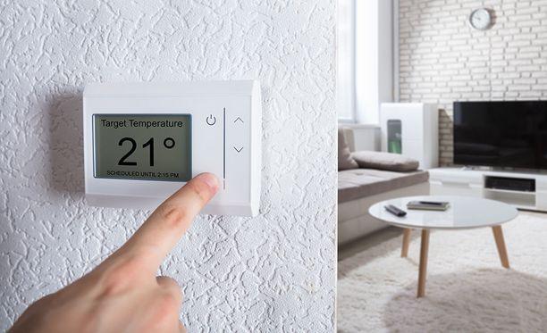 Ihanteelliseksi huonelämpötilaksi on arvioitu 21 astetta.