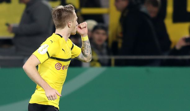 Marco Reus ratkaisi voiton Dortmundille.
