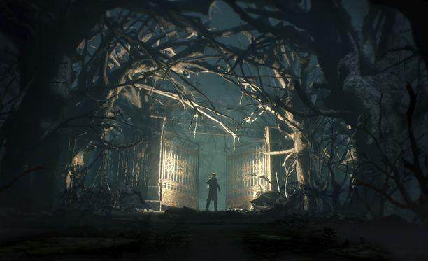 Pelissä seikkaillaan tyhjillään olevassa kartanossa.