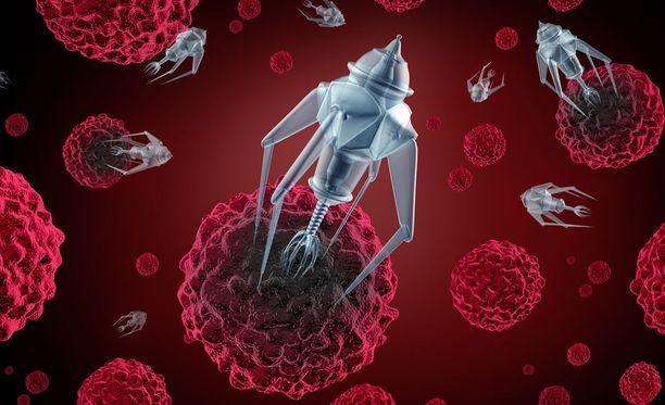 Nanoteknologian avulla ihmisessä voi vaeltaa pieni nanorobotti, joka voi auttaa esimerkiksi diagnostiikassa.