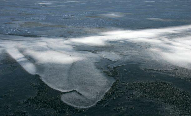 Itämeren jääpeite on vuodenaikaan nähden vähäinen. Kuvituskuva.