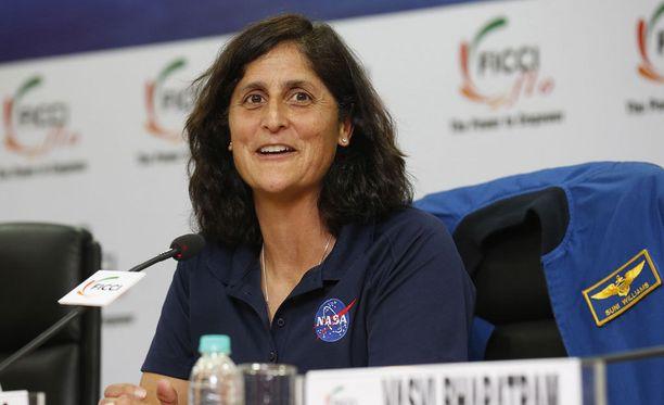 Yhdysvaltalainen astronautti Sunita Williams puhui naisten asemasta New Delhissä viime helmikuussa.