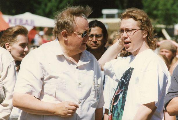 Martti ja Marko Ahtisaari vuonna 1995.