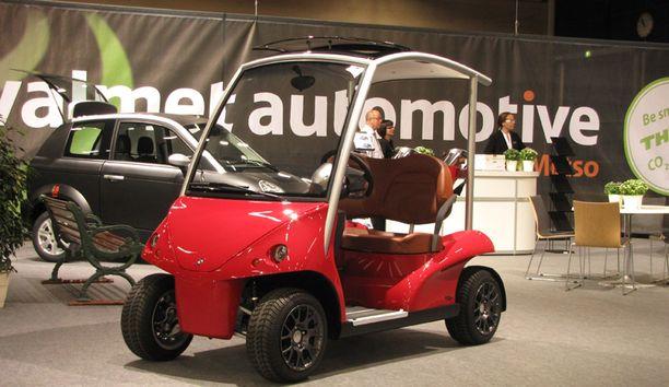 Valmetin sähköinen golf-auto Garia.