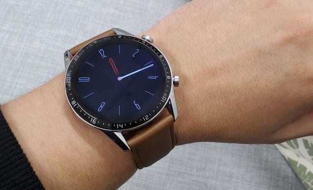Huawei Watch GT 2 näyttää klassisen tyylikkäältä.
