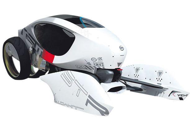 NISSAN V2G. Suippo runko ja kuusi pyörää. V2G kiitää tulevaisuuden superteillä hyvin nopeasti.