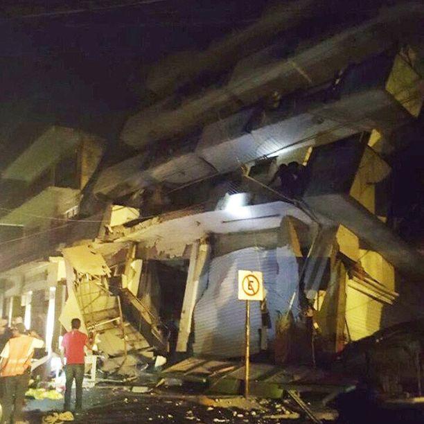 Maanjäristyksen romahduttama rakennus Oaxacassa Meksikossa.