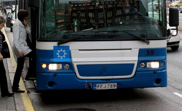 äkiAKT:n työnseisaus uhkaa aiheuttaa haittaa bussiliikenteelle 2. helmikuuta. Kuvituskuva.