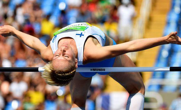 Linda Sandblom hyppäsi uuden SE-tuloksen korkeushypyssä.