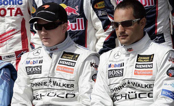 Kimi Räikkönen ja Juan Pablo Montoya ajoivat McLarenilla samaan aikaan 2005-06. Jälkimmäisen kauden jälkeen kolumbialainen paketoi F1-uransa ja siirtyi Nascariin.