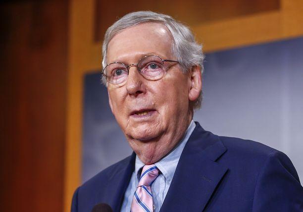 Senaatin enimmistöjohtaja Mitch McConnell.