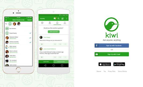 Kiwi-sovelluksen kutsuun ei kannata vastata, jos ei halua kutsun lähtevän kaikille kavereille.