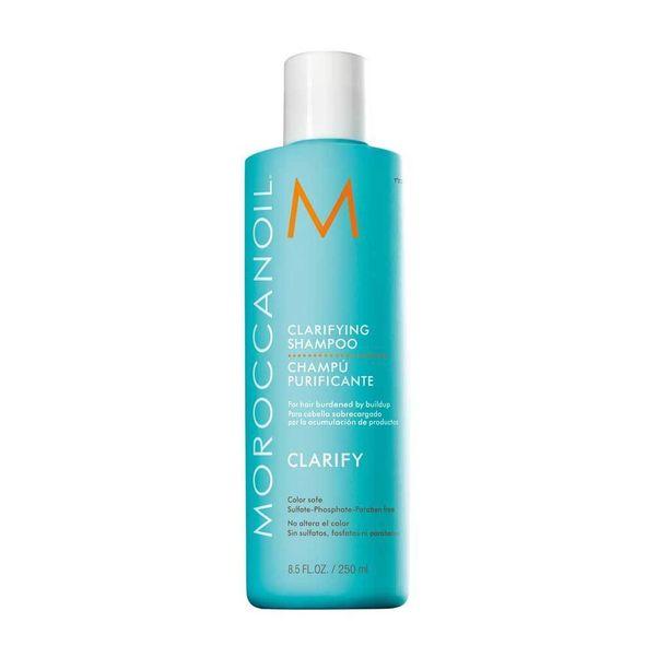 Loman jälkeen on aika puhdistaa hiukset kunnolla. Moroccan Oilin syväpuhdistava Clarifying Shampoo pesee hiukset hellästi mutta huolellisesti, 27 e.