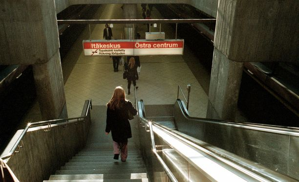 Pahoinpitely tapahtui Itäkeskuksen metroasemalla. Arkistokuva.