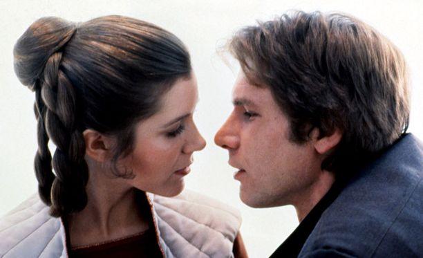 Harrison Fordilla ja Carrie Fisherillä oli romanssia sekä valkokankaalla että tosielämässä.