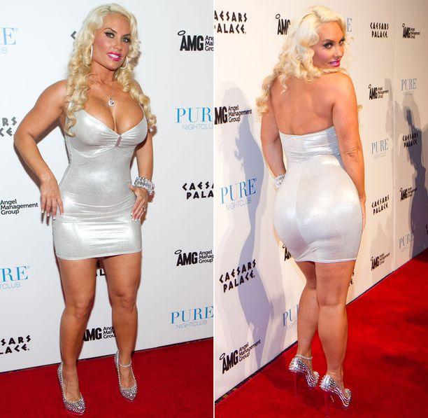 Tästä on kyse. Coco omistaa Hollywoodin muhkeimman takapuolen. Monet ovat epäilleet takapuolen sisältävän implantit.