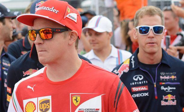 Sebastian Vettel on jo F1-isä. Kimi Räikkönen liittyy F1-isien kerhoon.