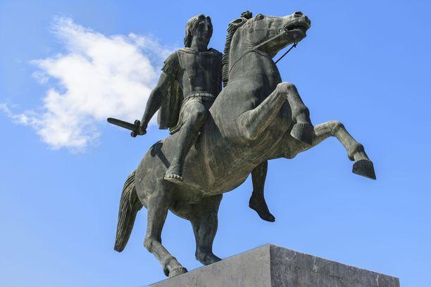 Aleksanteri Suuren patsas Thessalonikissa Kreikassa.