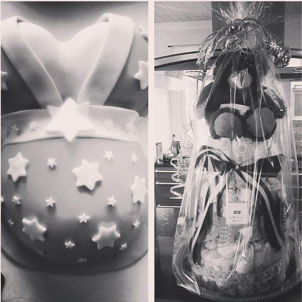 """Marika Fingerroos lähetti Iltalehdelle erikseen myös suljetulle Instagram-tililleen julkaisemansa kuvan. Siinä on Fingerroosin saamia lahjoja ja hänen """"silikoni-kakkunsa""""."""