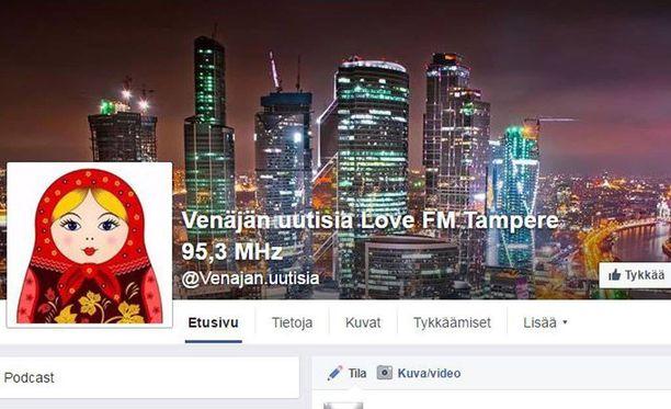 Love FM lähetti Venäjän uutisia Tampereen taajuudella. Uutisia jaettiin myös Facebookissa.