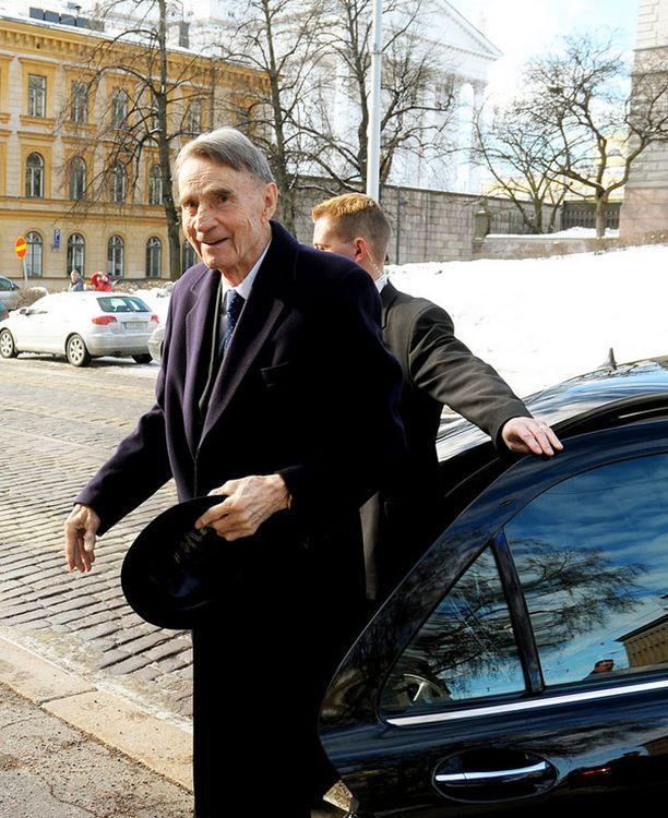 Säätytalolla nähtiin hyväkuntoinen presidentti.