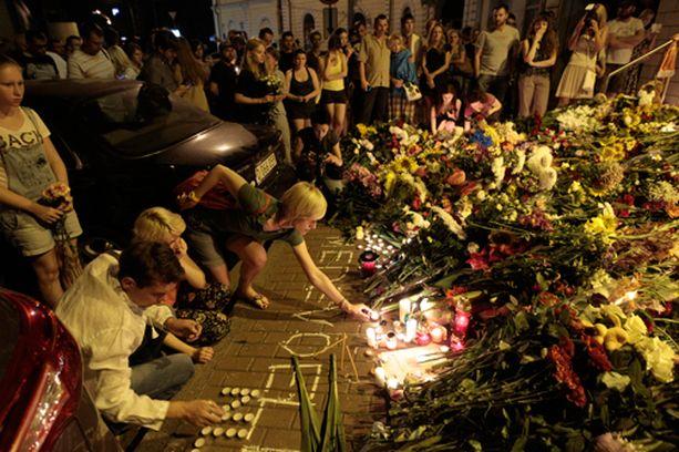 Kiovassa surraan turmassa menehtyneitä.