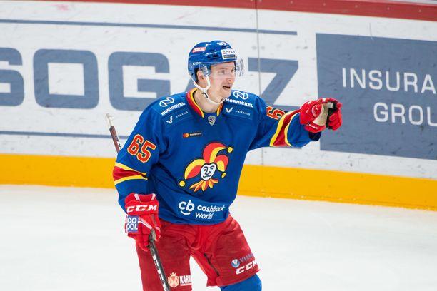 Sakari Manninen oli Jokerien tehomies Slovakiassa.