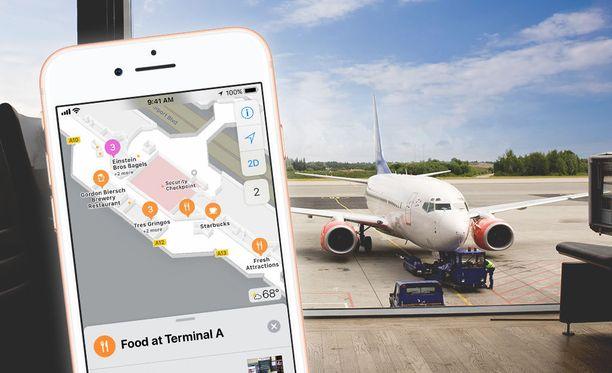 Uuden päivityksen myötä liikkuminen lentokentällä voi helpottua.