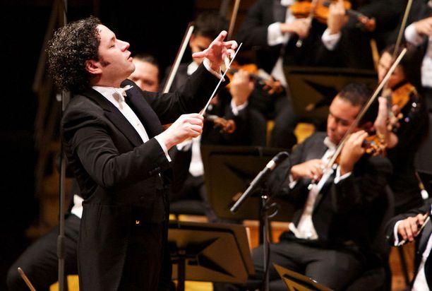 Gustavo Dudamel on esiintynyt myös Suomessa.