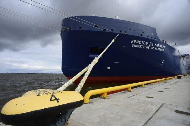 Nestekaasua kuljettava venäläinen Christophe de Margerie -tankkeri lähti ennätysaikaisin.
