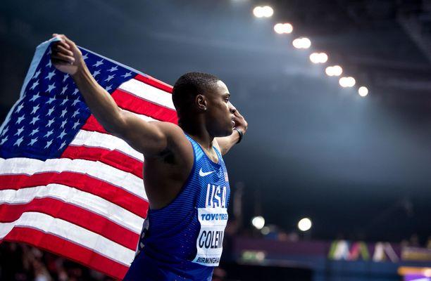 Christian Coleman saa kilpailla. Mikäli kilpailukielto olisi langetettu, maailman nopein mies olisi joutunut jättämään väliin Dohan MM-kisat ja ensi kesän olympialaiset.