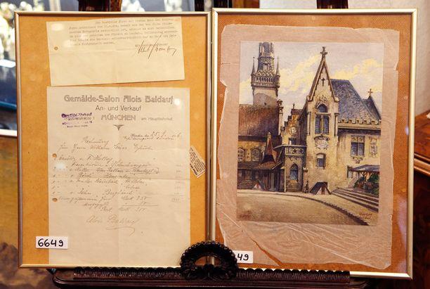 Hitlerin maalaamaksi oletettu teos esittää Münchenin kaupungintaloa.