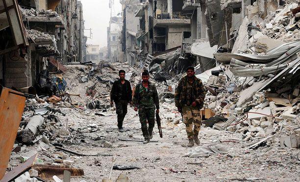 Venäjä on jälleen pommittanut kapinallisalueita Syyrian eteläosassa. Kuvituskuva Syyriasta.