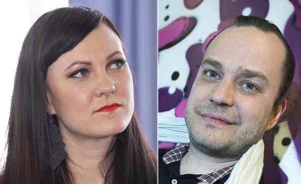 Mira Luoti ja Harri Moisio keskustelivat asekaupoista.