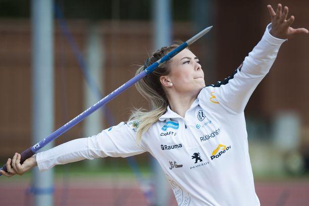19-vuotias Julia Valtanen on kenties Suomen lahjakkain keihäänheittäjä.