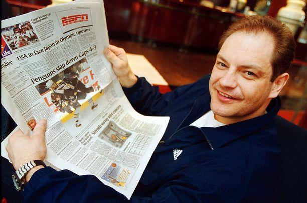 Esa Tikkanen oli usein otsikoissa, mutta ei sentään joka päivä USA Todayn sivuilla.