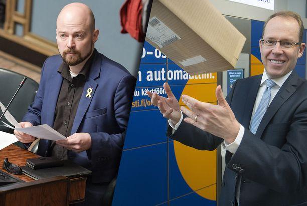 Kansanedustaja Mikko Kärnä kehottaa Postin toimitusjohtajaa Heikki Malista eroamaan.