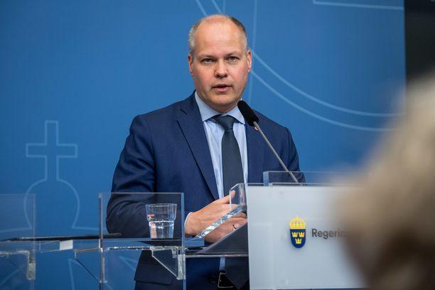 Ruotsin oikeusministeri Morgan Johansson (sosiaalidemokraatit).