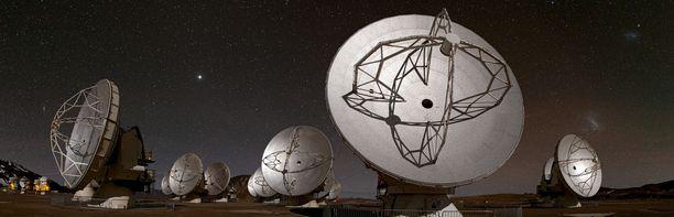 ESO:n teleskoopit sijaitsevat Atacaman aavikolla Chilessä.