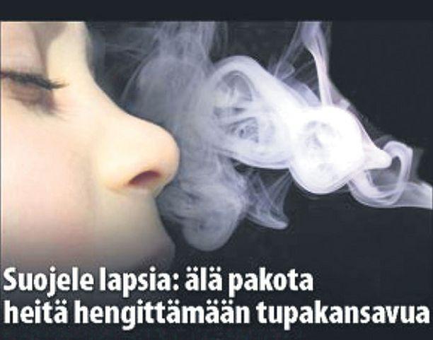 Eniten Iltalehden haastattelemia suomalaisia sokeerasi kuva, jossa pieni lapsi hengittää savua sieraimiinsa.