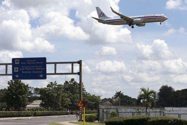 José Martin lentokentältä lähtee sekä kansainvälisiä että Kuuban sisäisiä lentoja. Kuvituskuva.