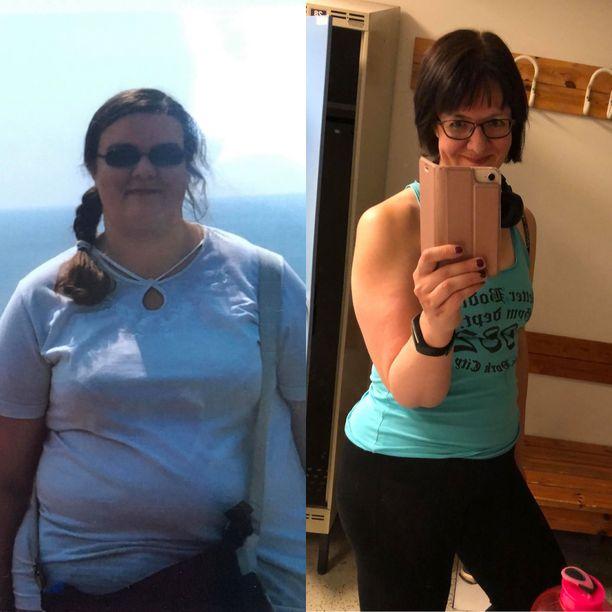 Helsinkiläinen Taina Lanne on pudottanut painoa kaikkiaan 50 kiloa. Hän kannustaa laihduttajia olemaan itselleen armollisia. Repsahduksia tulee kaikille.