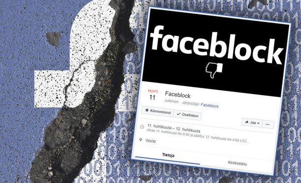 Faceblock-kampanja haluaa ihmiset pois Facebookista keskiviikkona.